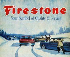 Truth - good tires make a difference :) Firestone Tires, Vintage Ads, Vintage Signs, Vintage Prints, Van Car, Best Tyres, Digital Archives, The Old Days, Poster