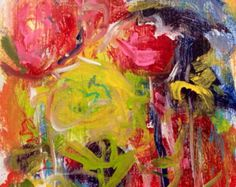 Floral abstract painting contempora ry flower still life modern art ...