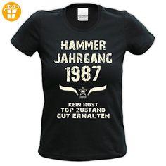 Modisches 30. Jahre Girlie Damen-Oberteil zum Geburtstag Hammer Jahrgang 1987 Farbe: schwarz Gr: S (*Partner-Link)