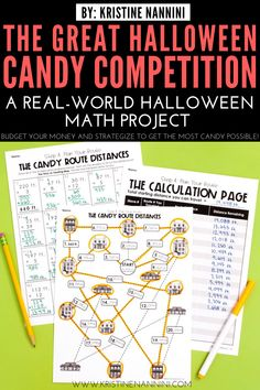 Looking for a fun Halloween math project? The Great Halloween Candy Competition is a real-world PBL activity requiring math and critical thinking skills. Halloween Math, Halloween Activities, Halloween Candy, Classroom Activities, 4th Grade Classroom, Middle School Classroom, Math Projects, Critical Thinking Skills, Math Concepts