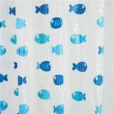Found it at Wayfair - Wiggly Fish Vinyl Shower Curtain
