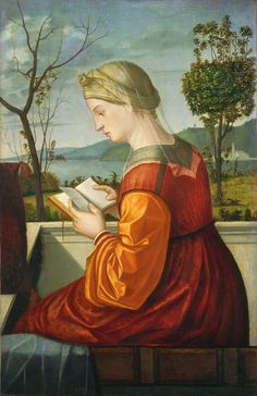 Vittore Carpaccio - Vittore Carpaccio - Madonna che legge un libro c. 1505 oil on panel transferred to canvas overall: 78 x 51 cm National Gallery of Art Washington
