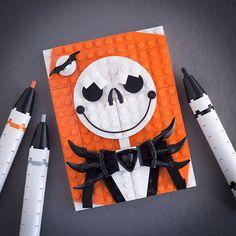 "Jack Skellington LEGO creation ""This is Halloween"" by PowerPig Lego Halloween, Happy Halloween, Halloween Halloween, Holidays Halloween, Legos, Pixel Art, Lego Themed Party, Van Lego, Lego Mosaic"