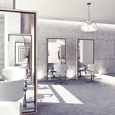 Concrete. MODERN SALON. #HAIRSALON #SALON #BEAUTY