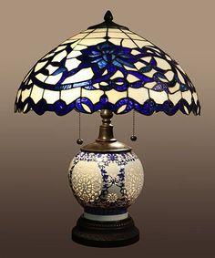 Look at this #zulilyfind! Tiffany Akiko Table Lamp #zulilyfinds #GlassLamp