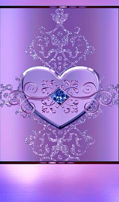 By Artist Unknown. Heart Iphone Wallpaper, Bling Wallpaper, Flower Phone Wallpaper, Purple Wallpaper, Butterfly Wallpaper, Love Wallpaper, Cellphone Wallpaper, Wallpaper Backgrounds, Purple Love