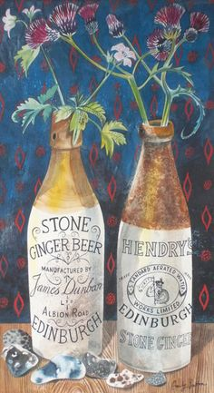 Still Life with Ginger Beer Print by Emily Sutton