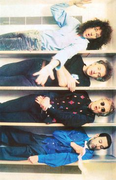 Brian May, John Deacon, Roger Taylor and Freddie Mercury. Headlong video shoot. I want my band to be just that cool.
