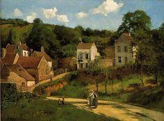 Camille Pissarro - L'Hermitage at Pontoise