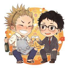 Haikyuu! ~~ Cuties! ☀ | ayame [pixiv] :: Takeda Ittetsu and Ukai Keishin