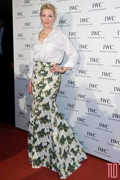 this is inspiring me to make some skirts. never enough gorgeous prints. Cate Blanchett in Giambattista Valli Couture