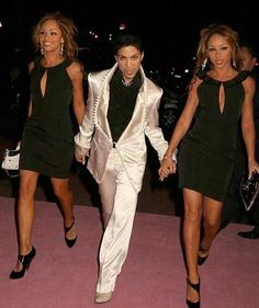 Prince with the Twinz, Maya and Nandy.