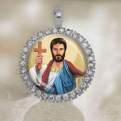St Timothy Catholic Medal. Christian Pendant. Beautiful by ElDotti