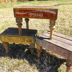 Old crates into stools
