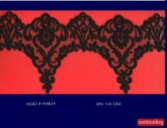 (14cm) Siyah Fransız Danteli