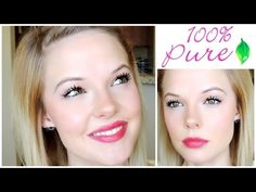 ▶ 100 Percent Pure Cosmetics REVIEW and TUTORIAL - YouTube Natural makeup, vegan, organic, cruelty free, gluten free
