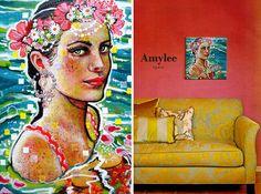 Painting by Amylee (Paris) #art #portrait www.amylee-paris.com