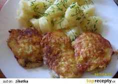 Řízečky v sýrovo-česnekovém těstíčku recept - TopRecepty.cz Baked Potato, Cauliflower, Garlic, Food And Drink, Menu, Potatoes, Baking, Vegetables, Ethnic Recipes