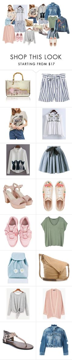 Лето. by galinastyle on Polyvore featuring мода, Lilou, WithChic, Topshop, MANGO, County Of Milan, Miu Miu, Puma, Steve Madden and Lollipops