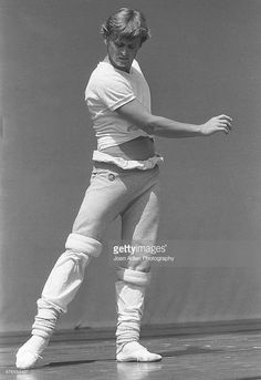 Dancer, Choreographer, Actor and Artistic Director of The American Ballet Theatre, Mikhail Baryshnikov rehearses the Twyla Tharp ballet 'When Push Comes to Shove' at the Hollywood Bowl on August 2, 1979 in Los Angeles, California.