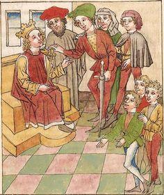 Antonius <von Pforr> Buch der Beispiele der alten Weisen — Oberschwaben, um 1475 Cod. Pal. germ. 466 Folio 269r