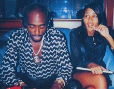 Tupac Shakur & Kidada Jones, 1996 the couple were engaged at the time of his…