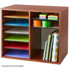 This adjustable organizer is perfect for the desktop. With up to 12 compartments, the dividers can be customized to provide either horizontal or vertical space for organization.