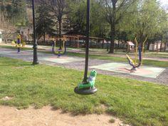 Ando en el parque en Cistierna.
