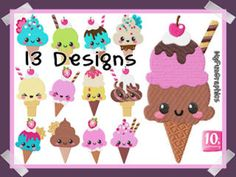 10's Embroidery Webshop - Borduur patroon / Embroidery pattern. Ice Cream, Design, No Churn Ice Cream, Icecream Craft, Ice, Gelato