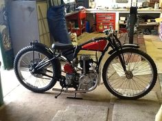 cool 1934 Rudge grass tracker...