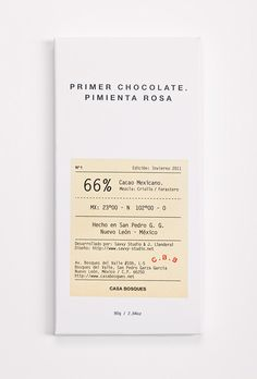 Casa Bosques Chocolates    Simple chocolate packaging designed by Savvy Studio for Casa Bosques.
