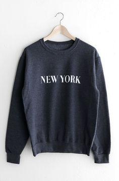 New York Oversized Sweatshirt - Dark Heather Grey