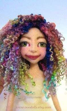my obsession - needle felt dolls and dyeing curly locks for my dolls