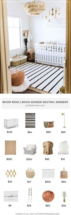This is the nursery of my dreams! It's gender neutral so you can put it together even if the gender of your baby is going to be a surprise! I'm sharing how to recreate this room on a budget, so that you can focus on saving your money for more important newborn things!