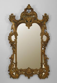 English Chippendale mirror wall mirror gilt wood