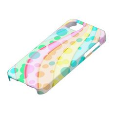 Colorful Pastel Dots And Waves Pattern iPhone 5 Cases