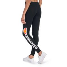 Mesdames noir Ellesse TREVALLI Leggings Taille 4