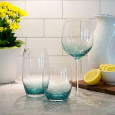 Shop Urban Barn today for the latest in stylish glassware for your home. Urban Barn, New Condo, Breakfast At Tiffanys, Home Look, Cozy House, Auburn, Kitchen Accessories, Home Deco, Wine Glass