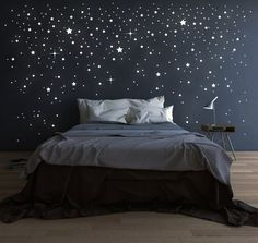 Looking for inspiration for remodel your dreamy room? Here are some ideas to make your dreamed room become reality! check out beautiful room ideas for your inspirations! Dream Rooms, Dream Bedroom, Bedroom Wall, Bedroom Decor, Star Bedroom, Night Bedroom, Tumblr Bedroom, New Room, Room Inspiration