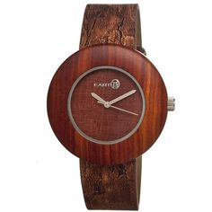 Earth Ligna Red Wood Dial Red Leather Unisex Watch ($99) ❤ liked on Polyvore featuring jewelry, watches, red watches, wooden wrist watch, quartz movement watches, analog watches and red jewelry