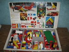 Legos.  This is the way mine came.  Just bricks, maybe a wheel or two.  No fancy parts.
