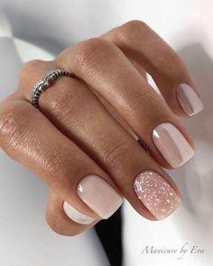 Cute Gel Nails, Short Gel Nails, Chic Nails, Fancy Nails, Cute Acrylic Nails, Stylish Nails, Trendy Nails, Pink Nails, Manicure For Short Nails