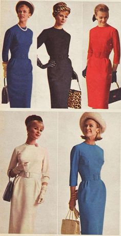 Dresses from a 1964 catalog.