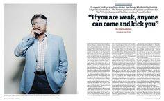 Kate Peters photographs Pervez Musharraf for New Statesman