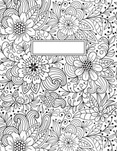 Coloring Page 2018 for Coloring Page Binder Cover Printable, you can see Coloring Page Binder Cover Printable and more pictures for Coloring Page 2018 at Children Coloring. Coloring Book Pages, Printable Coloring Pages, Coloring Sheets, School Binder Covers, Diy Notebook Cover, Drawings, Prints, Doodles, Printables