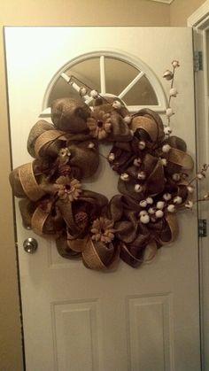Fall wreath Mabon, Wreath Ideas, Fall Decorating, Fall Wreaths, Deco Mesh, Fall Crafts, Burlap Wreath, Harvest, Thanksgiving