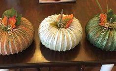 my dryer vent hose pumpkins, crafts, repurposing upcycling, seasonal holiday decor, My finished pumpkins