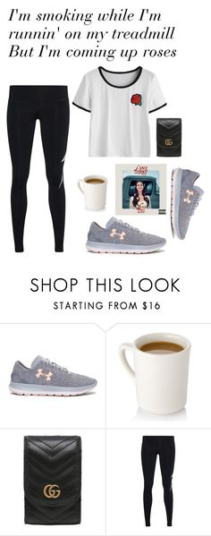"""""""LFL: In my feelings"""" by vale14m ❤ liked on Polyvore featuring Under Armour, Gucci and Aviator Nation"""