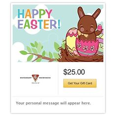Whole foods market thank you gift cards email delivery want bjs restaurant brewhouse happy easter chocolate bunny gift cards email delivery you can negle Choice Image