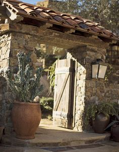 Cathy Kincaid Designs a French Country House in Arizona - House Beautiful Hacienda Homes, Hacienda Style, Beautiful Gardens, Beautiful Homes, House Beautiful, Front Gates, Desert Homes, House On The Rock, French Country House